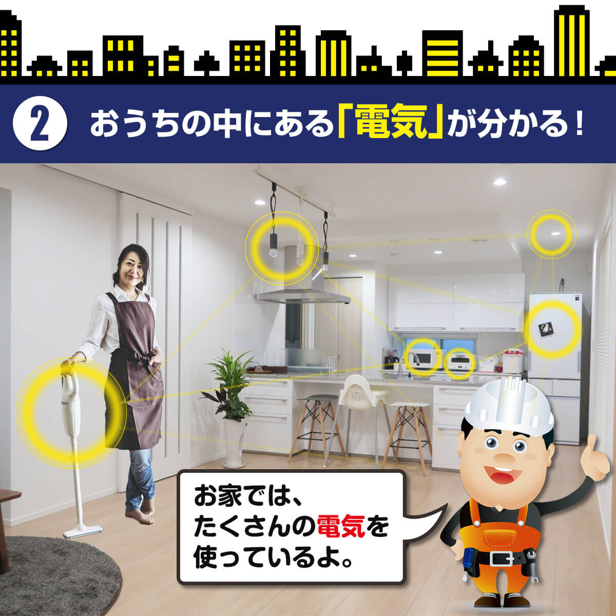 家の電気の仕組みが分かる